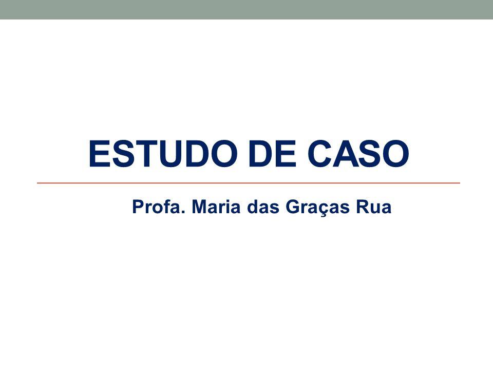 ESTUDO DE CASO Profa. Maria das Graças Rua