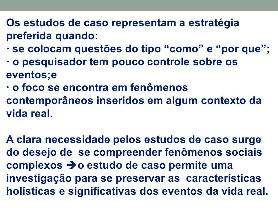 Componentes do Projeto de Pesquisa  são cinco: 3-Unidade de Análise  Relaciona-se com o problema fundamental de se definir o que é um caso .