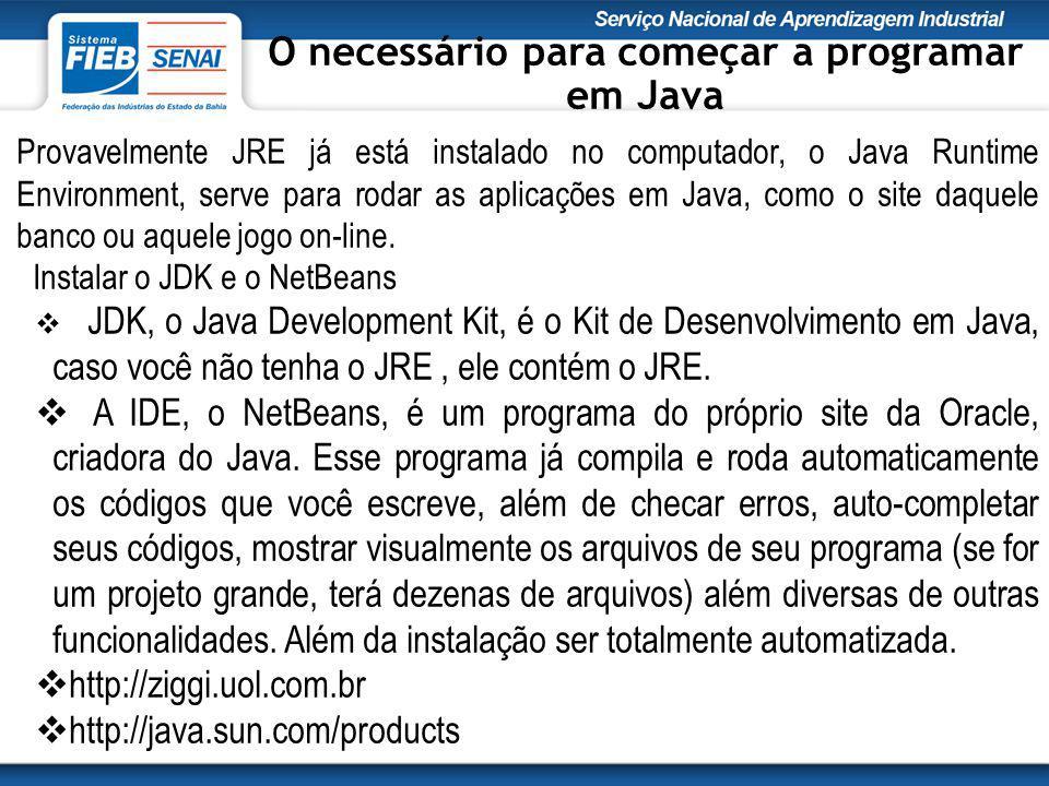 Provavelmente JRE já está instalado no computador, o Java Runtime Environment, serve para rodar as aplicações em Java, como o site daquele banco ou aquele jogo on-line.