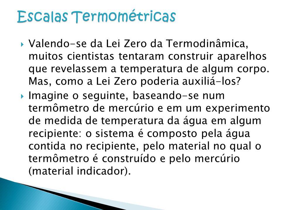  Valendo-se da Lei Zero da Termodinâmica, muitos cientistas tentaram construir aparelhos que revelassem a temperatura de algum corpo. Mas, como a Lei