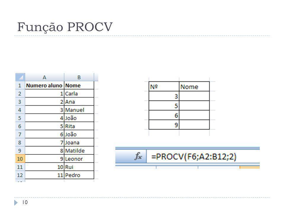 Função PROCV 10