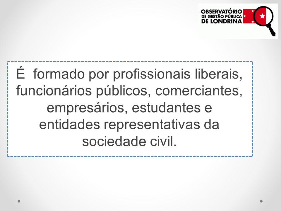 É formado por profissionais liberais, funcionários públicos, comerciantes, empresários, estudantes e entidades representativas da sociedade civil.