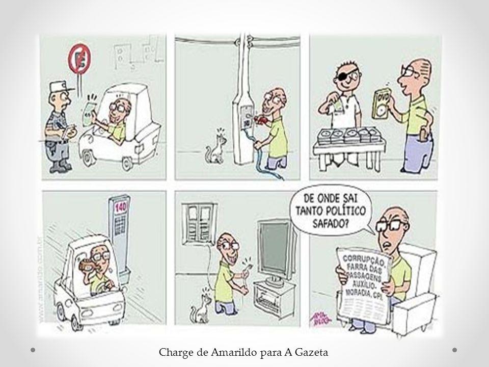 Charge de Amarildo para A Gazeta