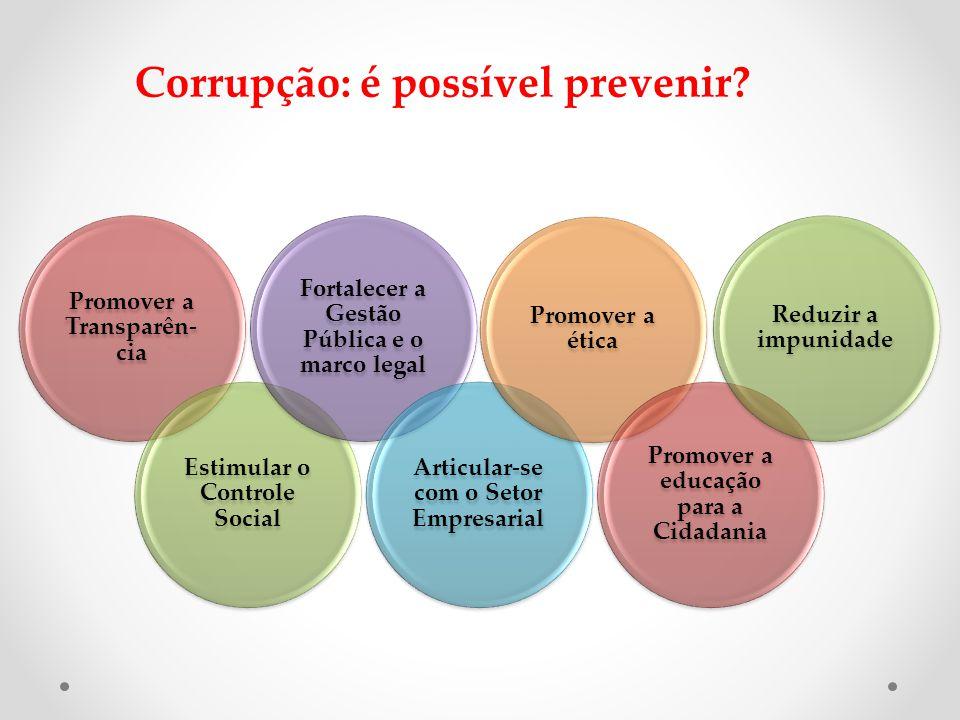 Corrupção: é possível prevenir.