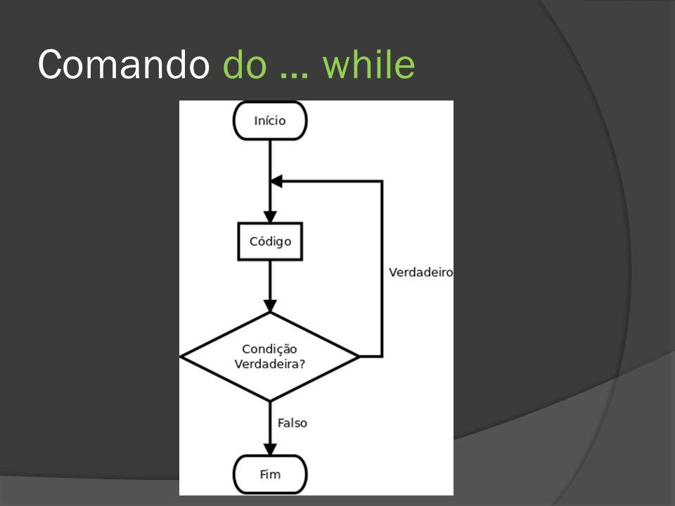 Comando for  O comando for foi criado para simplificar a contagem que antes era feita apenas com o comando while  Amplamente utilizado em programação  Em C#, ainda pode ser usado para declarar a variável de incremento  A variável de incremento existe apenas no bloco for  Essa prática economiza memória e facilita o entendimento do código
