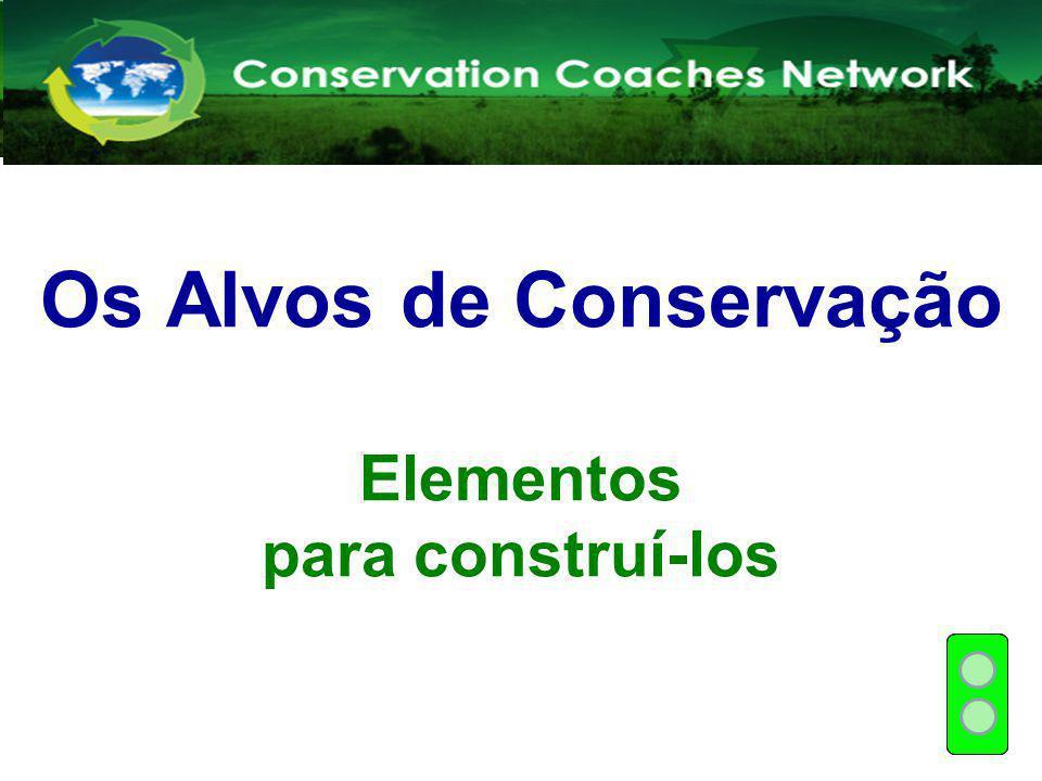 Os Alvos de Conservação Elementos para construí-los Rede de Treinadores em Conservação Capacitação de novos treinadores
