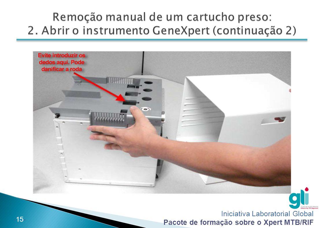 Iniciativa Laboratorial Global Pacote de formação sobre o Xpert MTB/RIF -15-