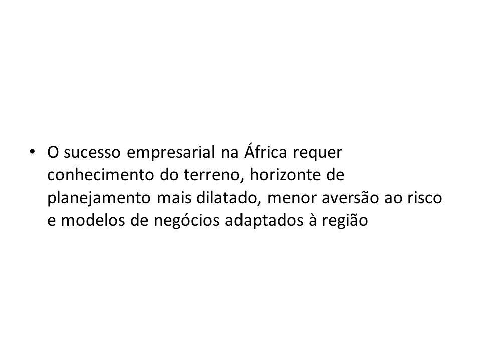 O sucesso empresarial na África requer conhecimento do terreno, horizonte de planejamento mais dilatado, menor aversão ao risco e modelos de negócios adaptados à região