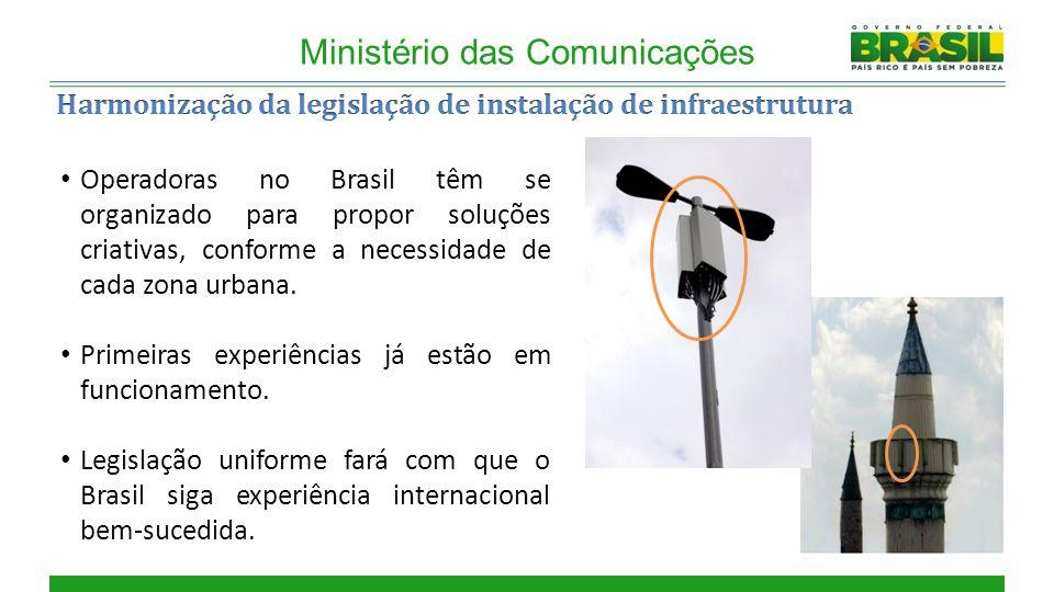 Ministério das Comunicações Operadoras no Brasil têm se organizado para propor soluções criativas, conforme a necessidade de cada zona urbana.