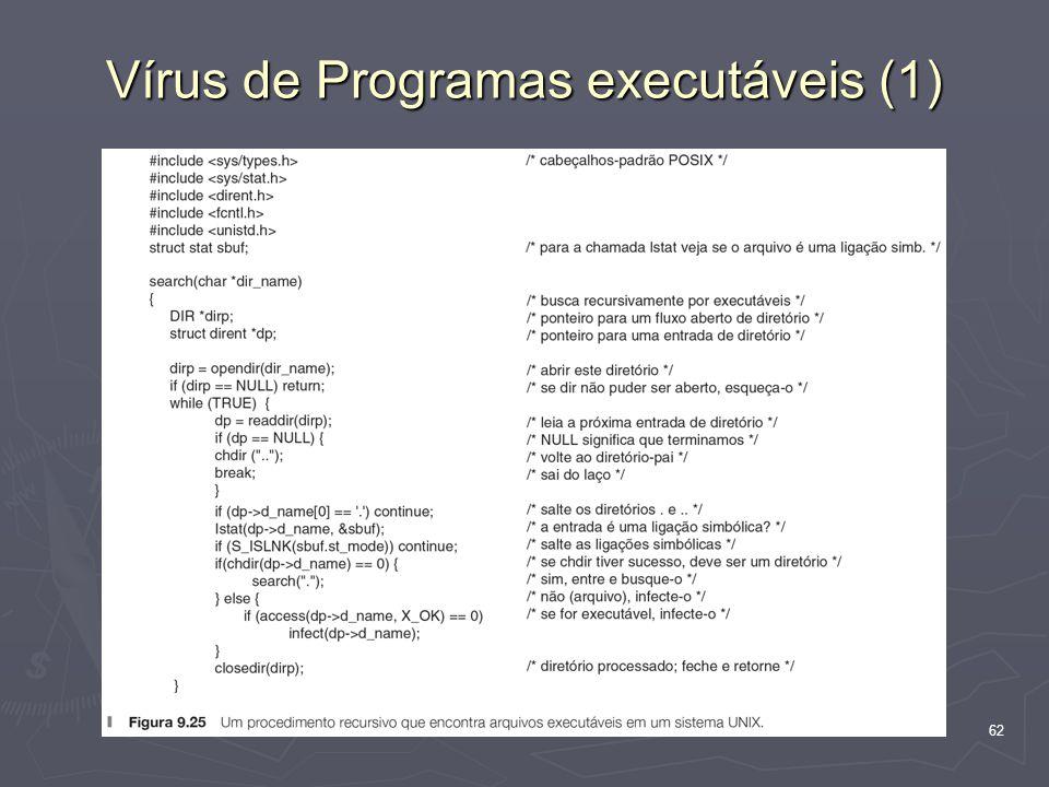 62 Vírus de Programas executáveis (1)