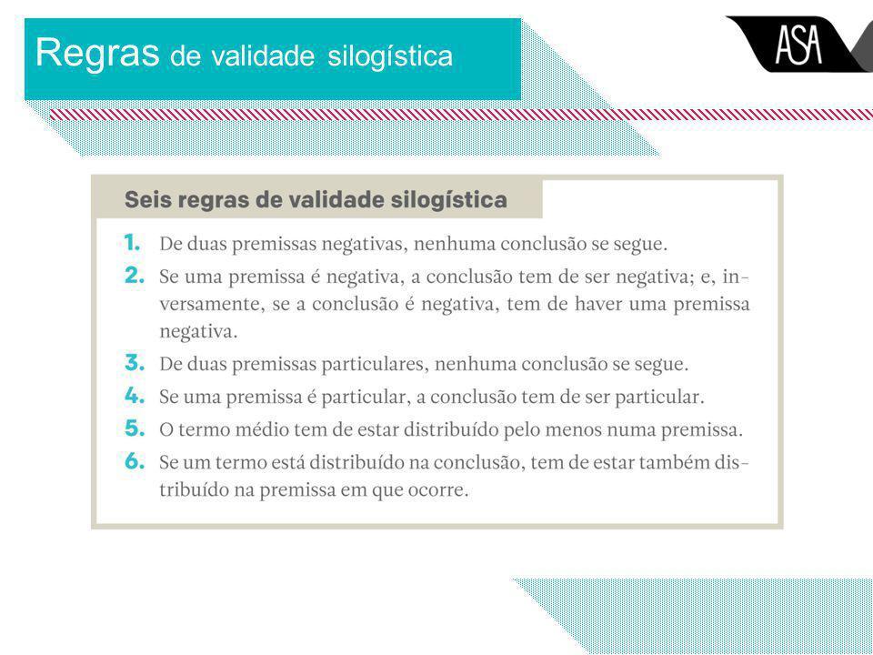 Regras de validade silogística