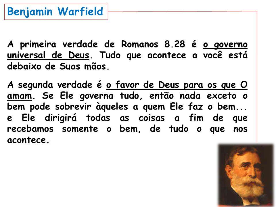 A primeira verdade de Romanos 8.28 é o governo universal de Deus. Tudo que acontece a você está debaixo de Suas mãos. A segunda verdade é o favor de D