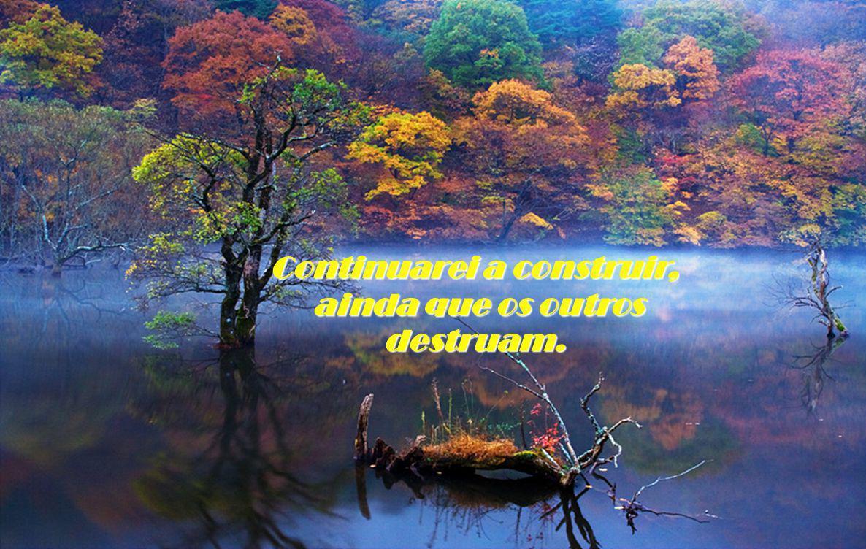 Continuarei a construir, ainda que os outros destruam. ainda que os outros destruam.
