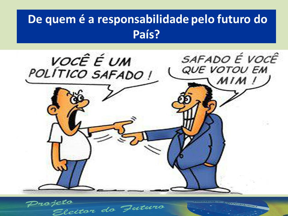 De quem é a responsabilidade pelo futuro do País?