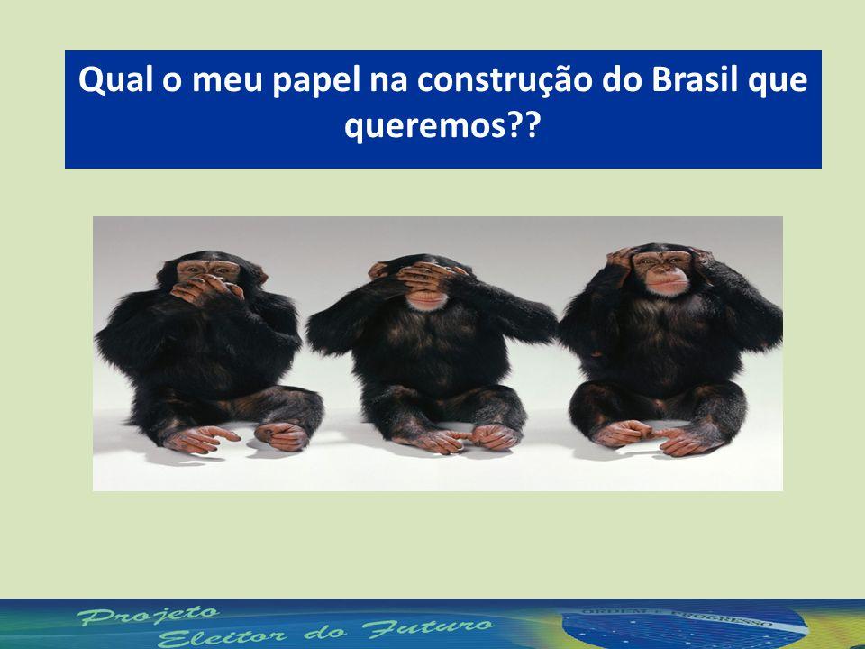 Qual o meu papel na construção do Brasil que queremos??