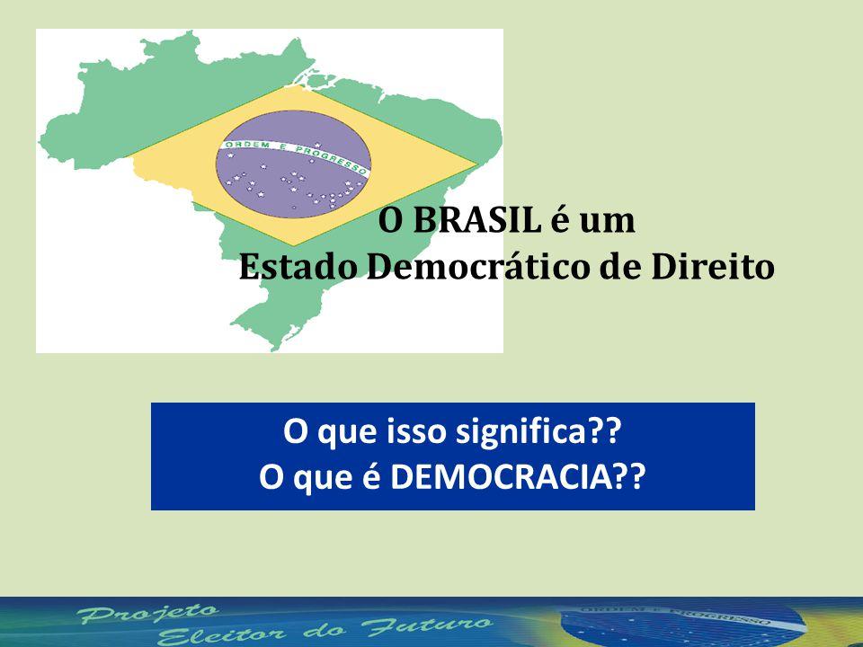 O BRASIL é um Estado Democrático de Direito O que isso significa?? O que é DEMOCRACIA??