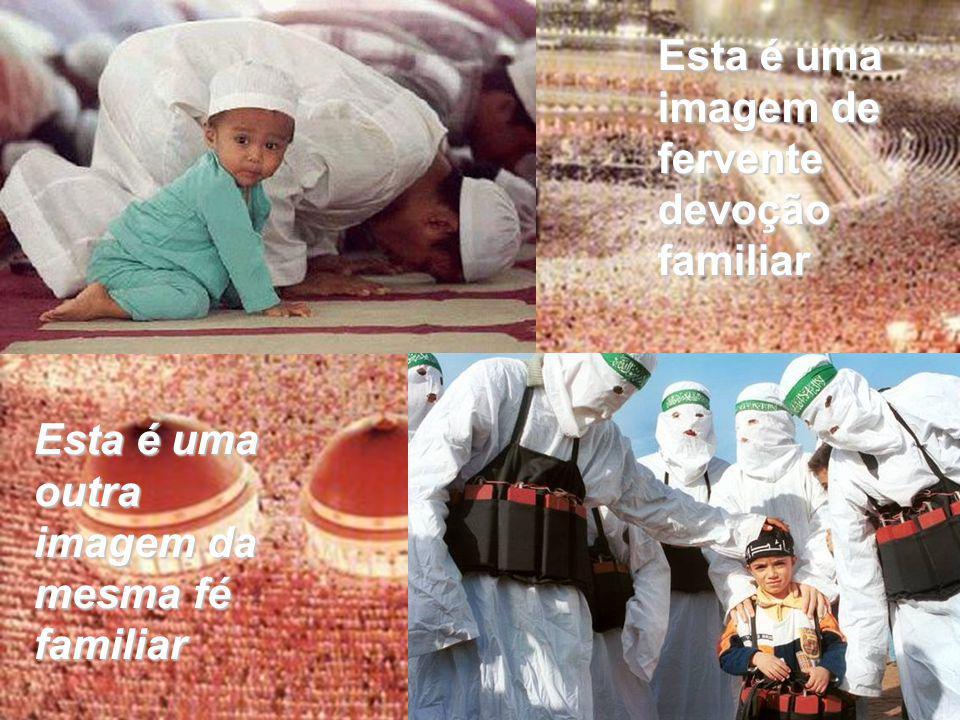 Esta é uma imagem de fervente devoção familiar Esta é uma outra imagem da mesma fé familiar