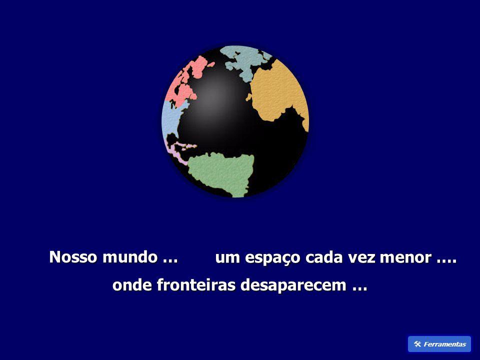 Nosso mundo … um espaço cada vez menor ….  Ferramentas onde fronteiras desaparecem …