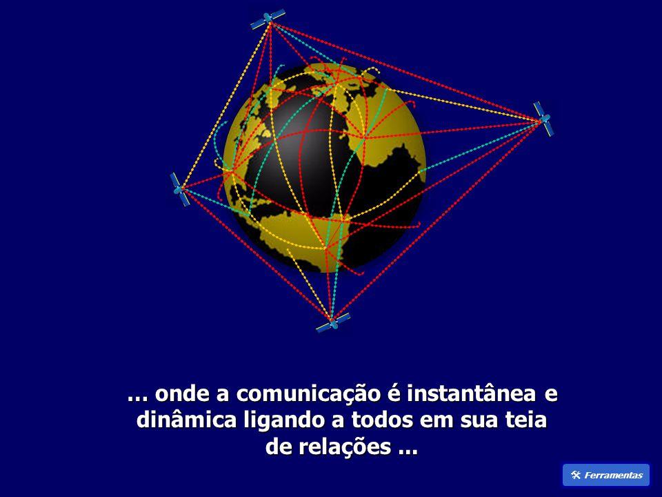 … onde a comunicação é instantânea e dinâmica ligando a todos em sua teia de relações...