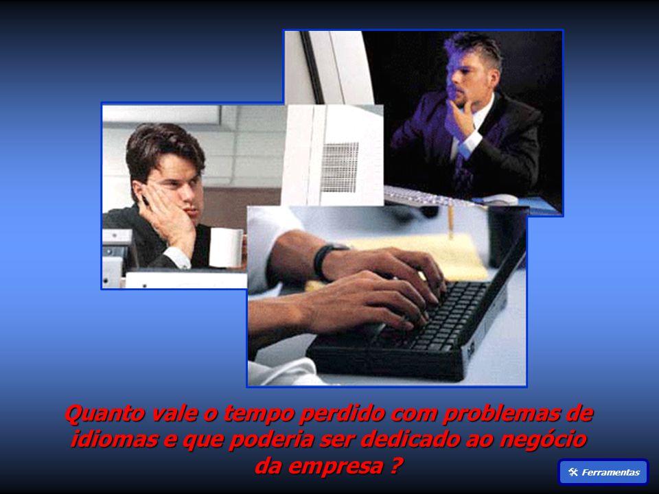 Quanto vale o tempo perdido com problemas de idiomas e que poderia ser dedicado ao negócio da empresa .