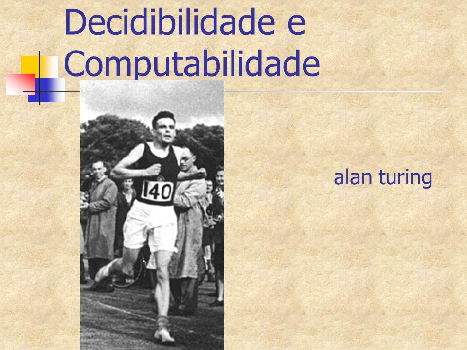 Decidibilidade e Computabilidade alan turing