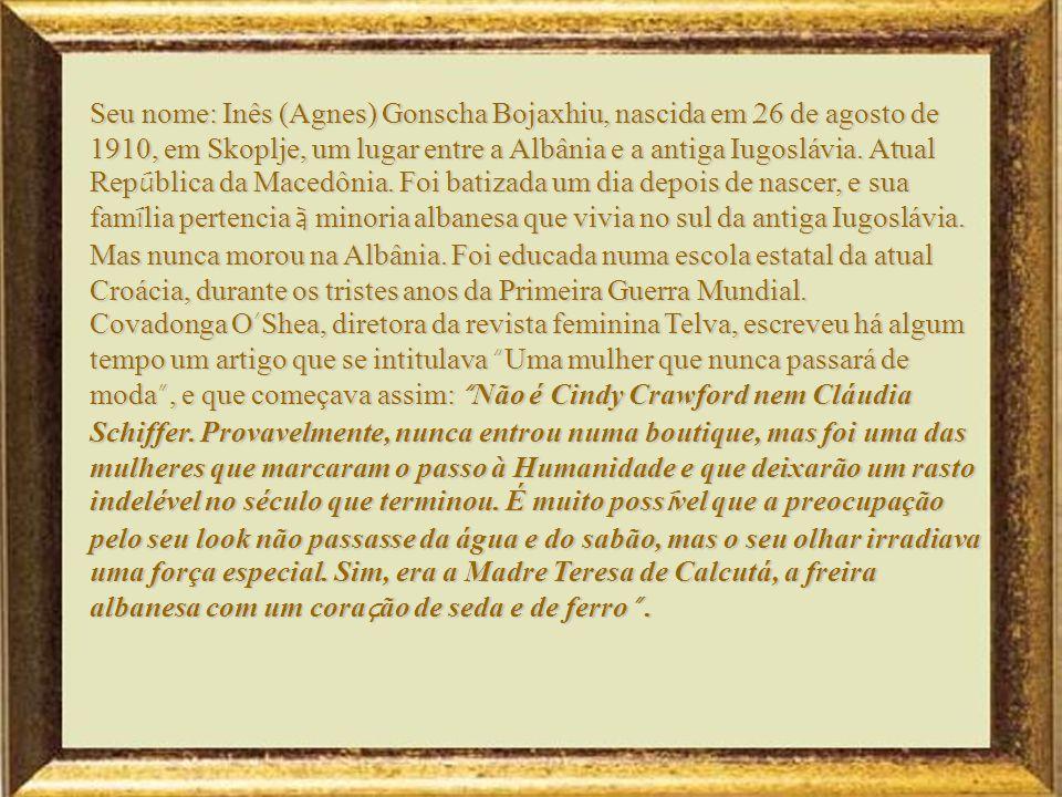 Universidade Certo dia, o então Secret á rio Geral das Na ç ões Unidas, Pérez de Cuéllar, apresentou-a perante a ONU como a mulher mais poderosa do mundo .Ganhou o prêmio Nobel da Paz em 1979.