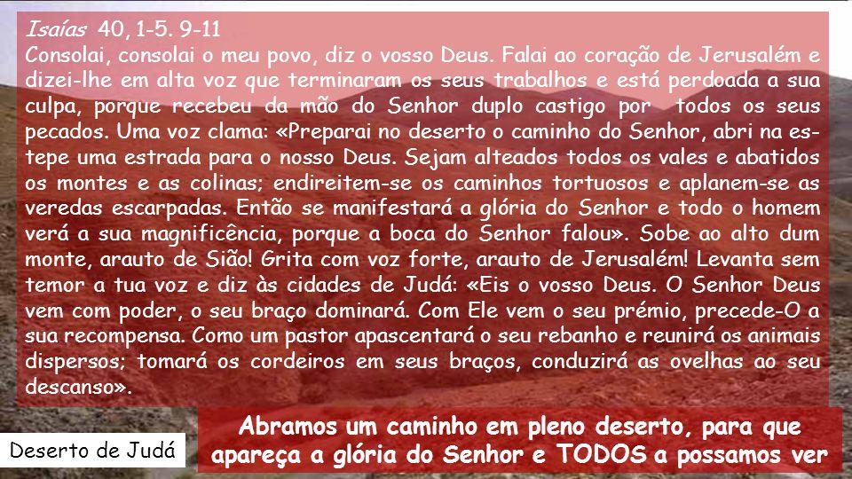 Isaías 40, 1-5.9-11 Consolai, consolai o meu povo, diz o vosso Deus.