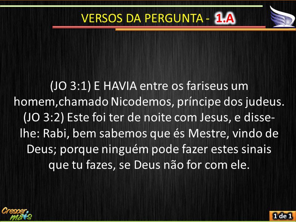 (JO 3:1) E HAVIA entre os fariseus um homem,chamado Nicodemos, príncipe dos judeus.
