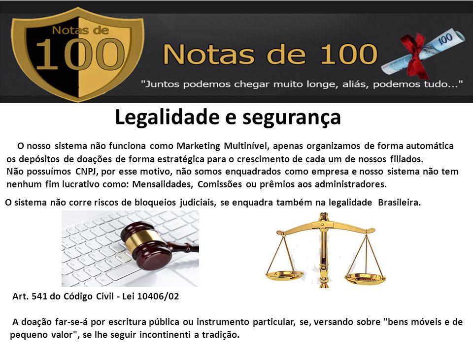 Art. 541 do Código Civil - Lei 10406/02 A doação far-se-á por escritura pública ou instrumento particular, se, versando sobre