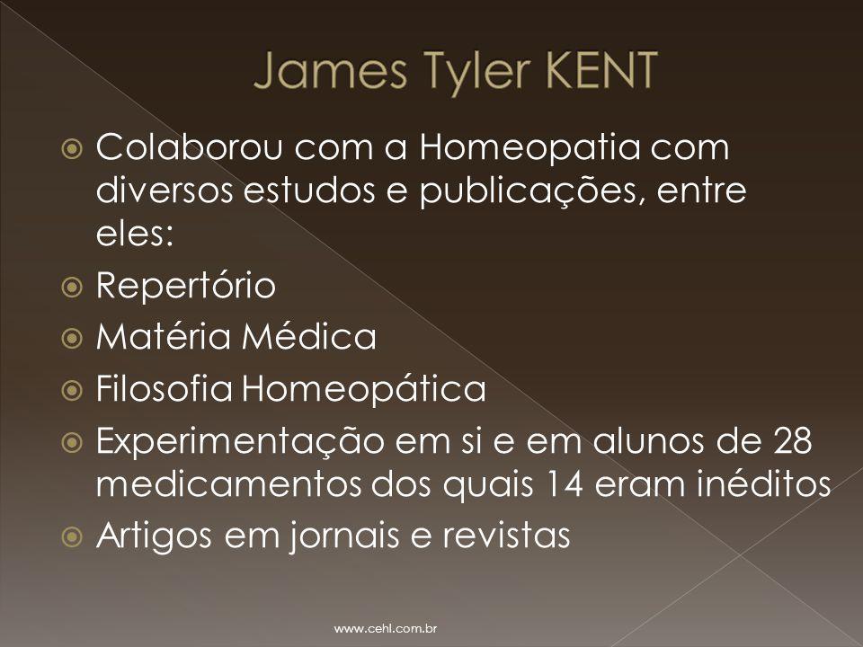  Colaborou com a Homeopatia com diversos estudos e publicações, entre eles:  Repertório  Matéria Médica  Filosofia Homeopática  Experimentação em