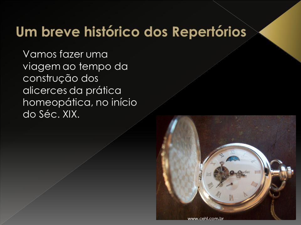 Vamos fazer uma viagem ao tempo da construção dos alicerces da prática homeopática, no início do Séc. XIX. www.cehl.com.br