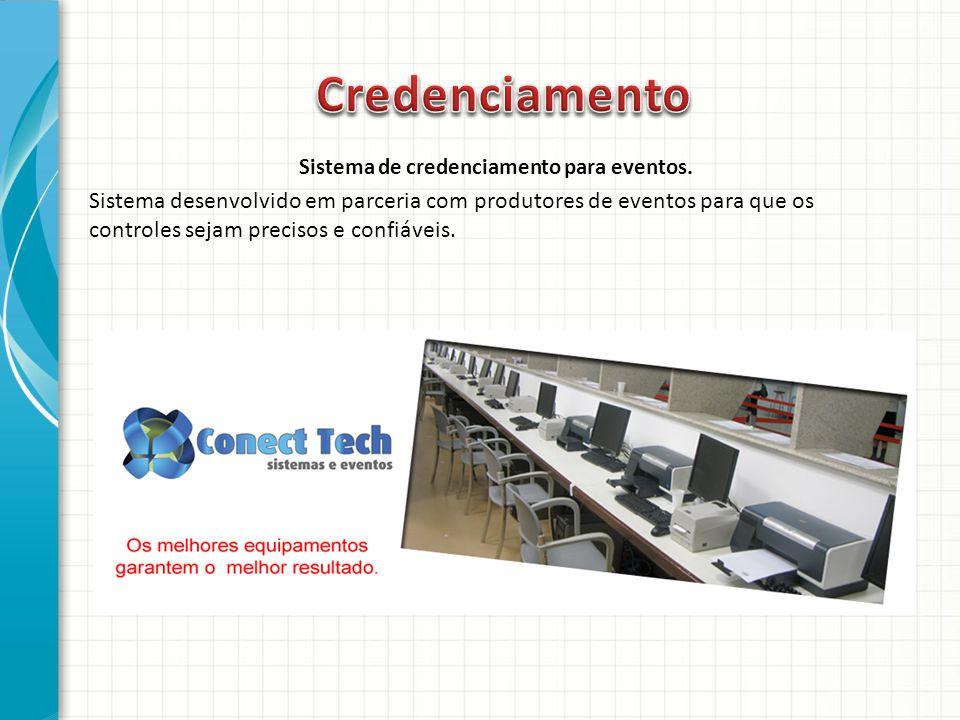 Sistema de credenciamento para eventos.