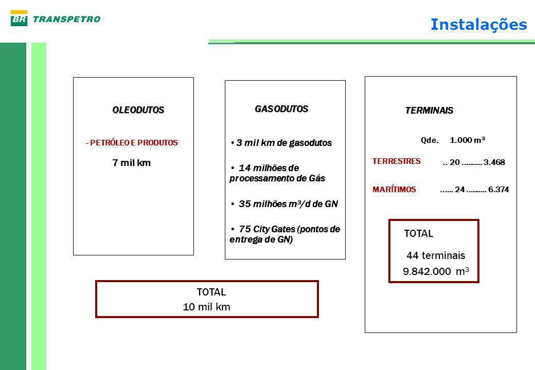 Navios tanques: 49 Idade média: 15 anos Casco duplo (IMO 13 F): 8 navios Casco duplo (antes de 1993): 12 navios Resumo da Frota Demanda média da Petrobras: 110 navios
