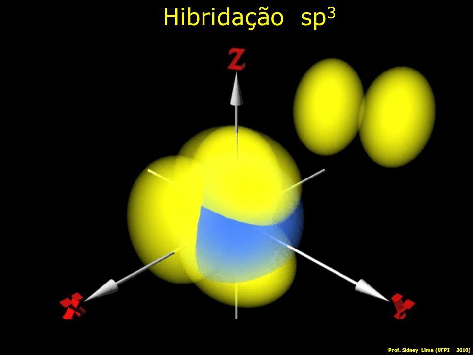 Hibridação sp 3 Prof. Sidney Lima (UFPI – 2010)
