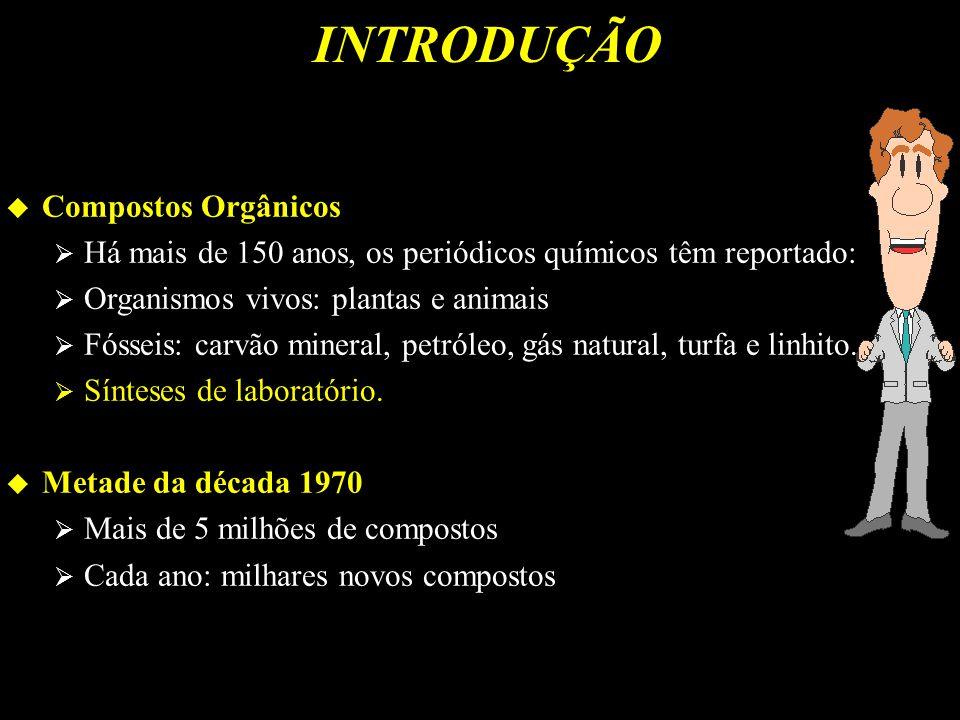 INDUSTRIALMENTE Produzido 6.000 a 10.000 compostos Eastman Organic Chemicals: 4.000 compostos Aldrich Chemical Company: 9.000 compostos Outras companhias: 100 a 1.000 compostos Prof.