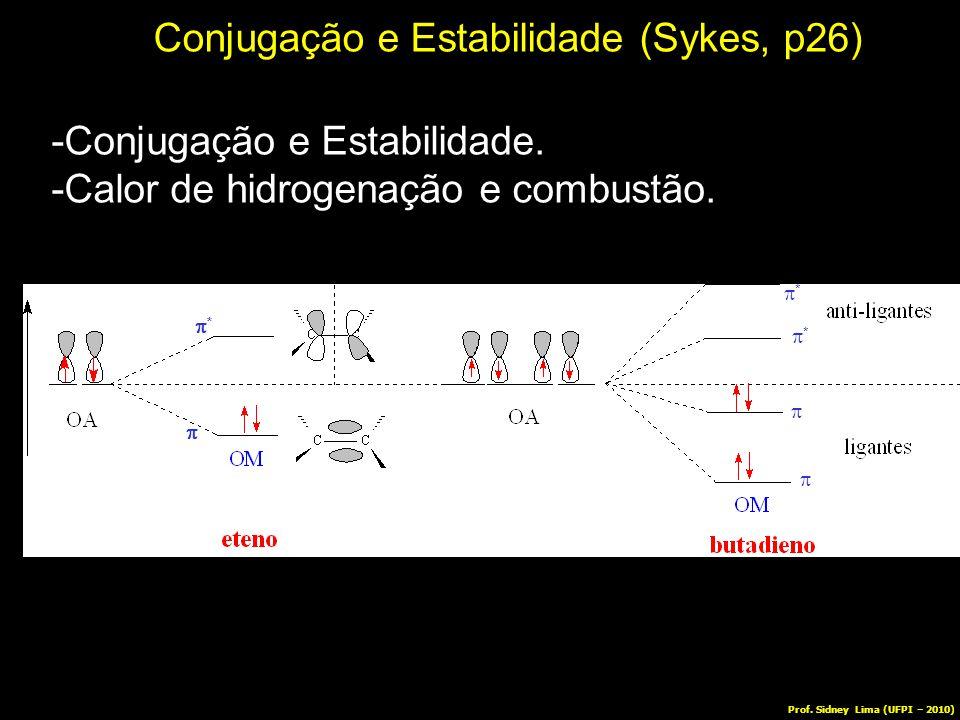 Conjugação e Estabilidade (Sykes, p26) -Conjugação e Estabilidade. -Calor de hidrogenação e combustão. **  **  **   Prof. Sidney Lima (UFPI