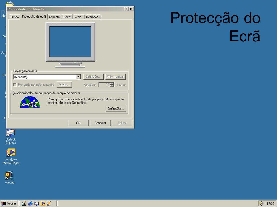 Protecção do Ecrã