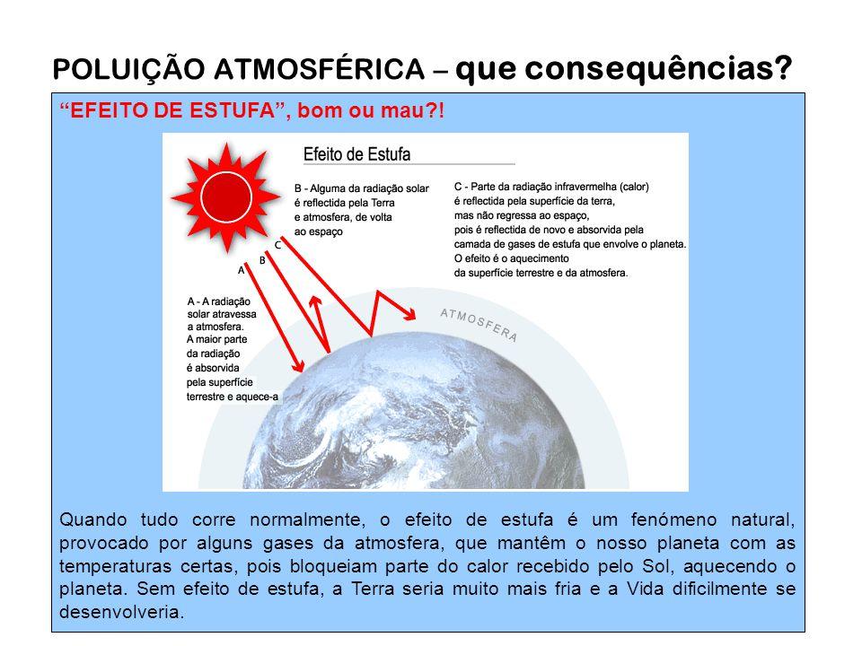 """""""EFEITO DE ESTUFA"""", bom ou mau?! Quando tudo corre normalmente, o efeito de estufa é um fenómeno natural, provocado por alguns gases da atmosfera, que"""