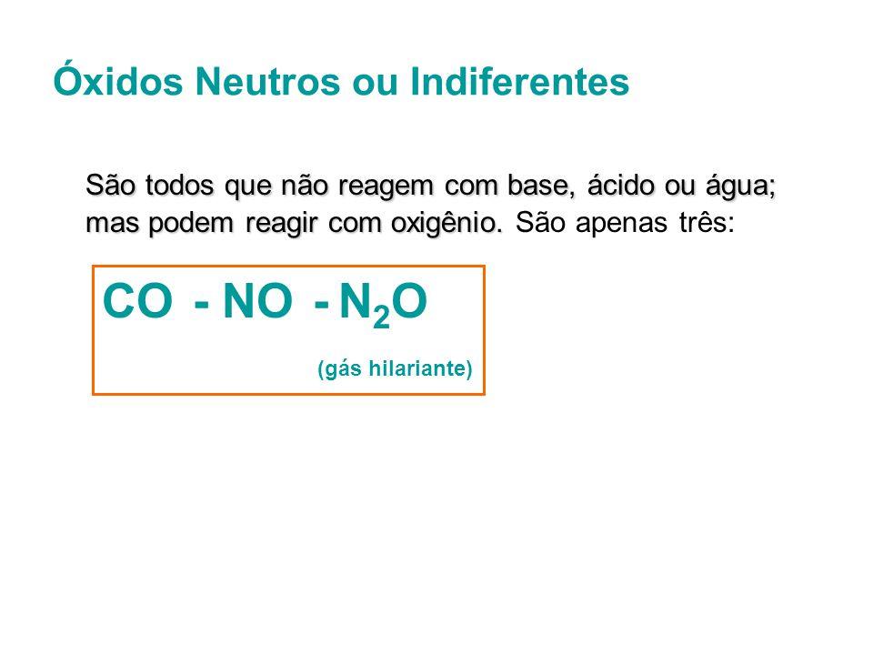 Óxidos Básicos São óxidos que ao reagirem com água formam base, com ácidos, formam sal e água.