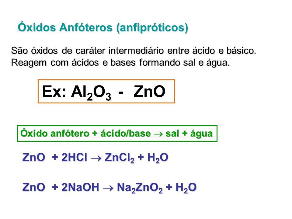 Óxidos Duplos,Mistos ou Salinos São óxidos que, quando aquecidos, originam dois outros óxidos.