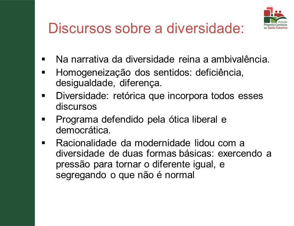 Discursos sobre a diversidade:  Na narrativa da diversidade reina a ambivalência.