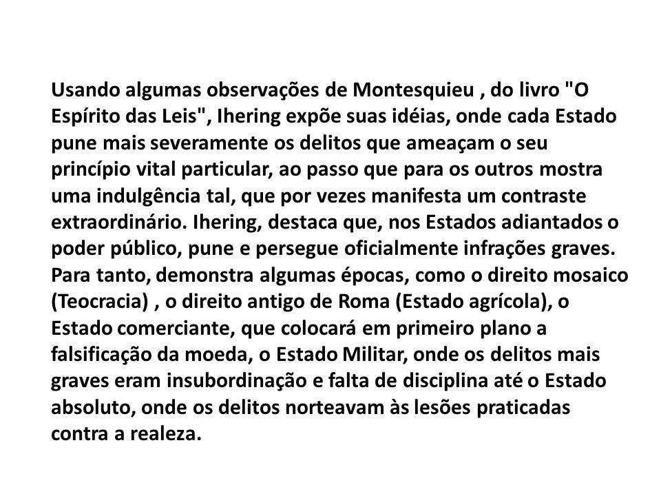 Usando algumas observações de Montesquieu, do livro