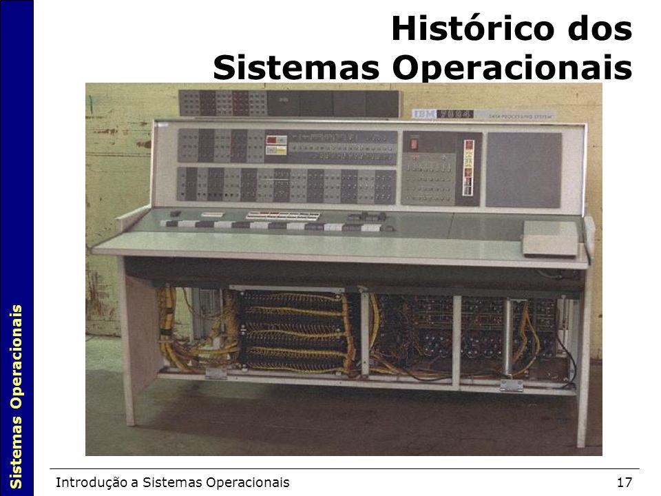 Sistemas Operacionais Introdução a Sistemas Operacionais17 Histórico dos Sistemas Operacionais