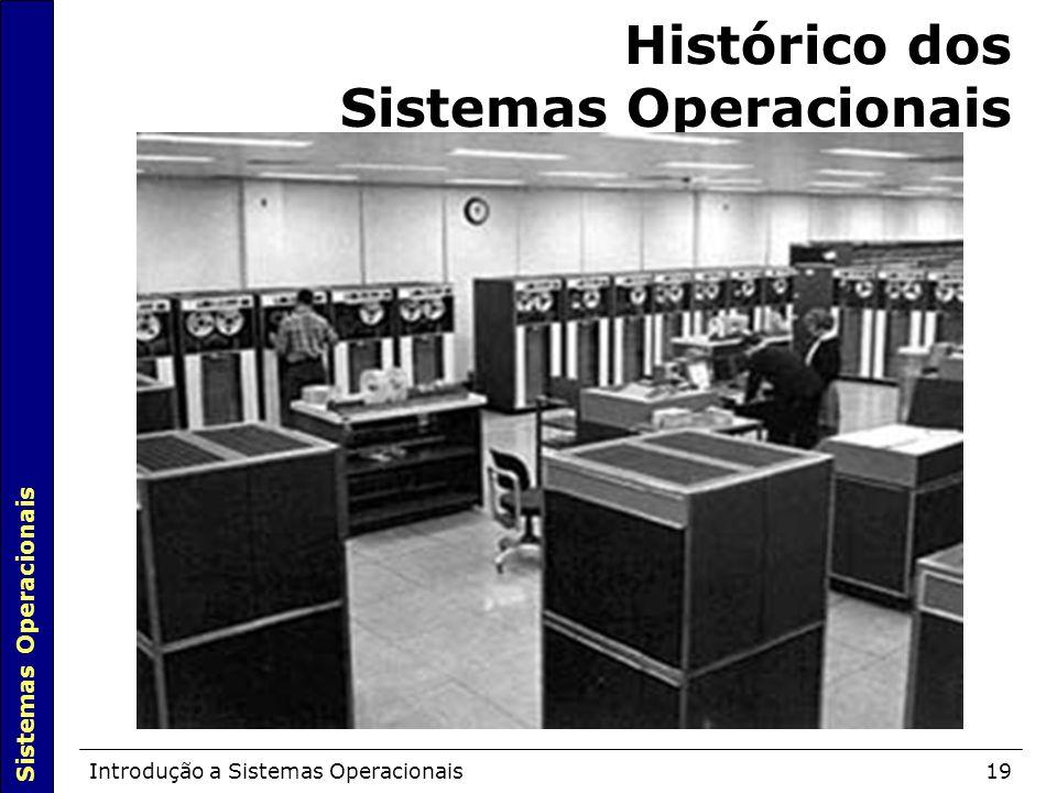 Sistemas Operacionais Introdução a Sistemas Operacionais19 Histórico dos Sistemas Operacionais