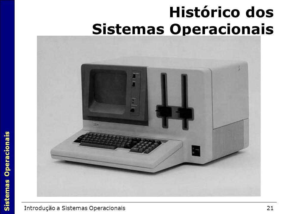 Sistemas Operacionais Introdução a Sistemas Operacionais21 Histórico dos Sistemas Operacionais