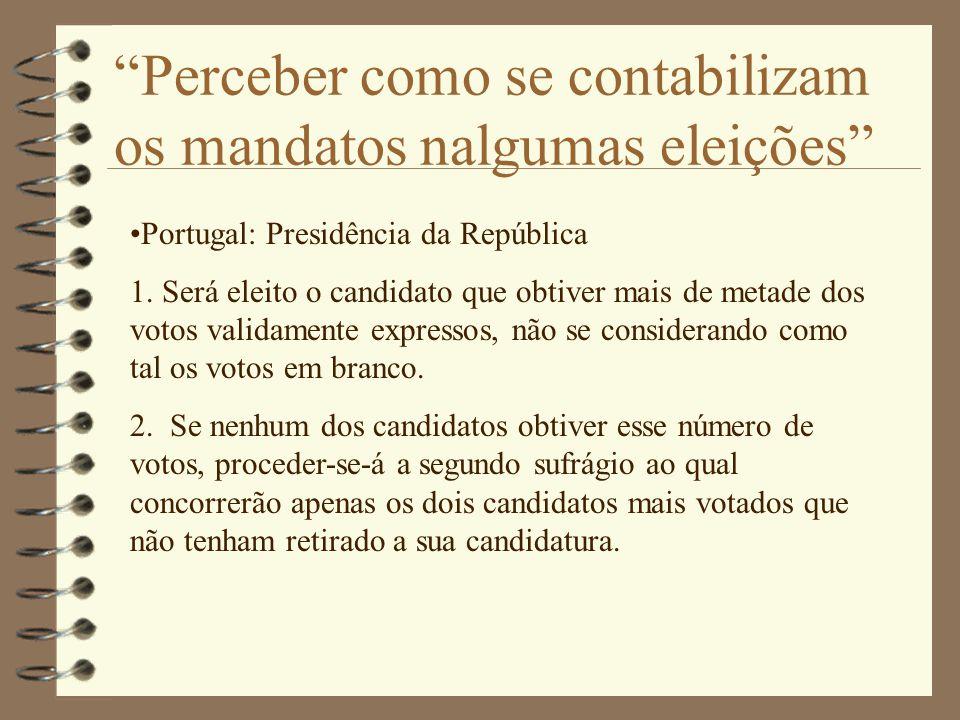 Perceber como se contabilizam os mandatos nalgumas eleições Portugal: Presidência da República 1.