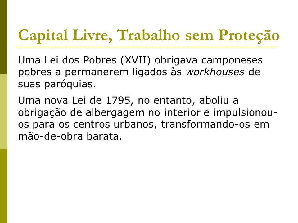 Capital Livre, Trabalho sem Proteção Em 1848, calculava-se que houvesse 1.400 indigentes e 2 milhões de pobres na Inglaterra.