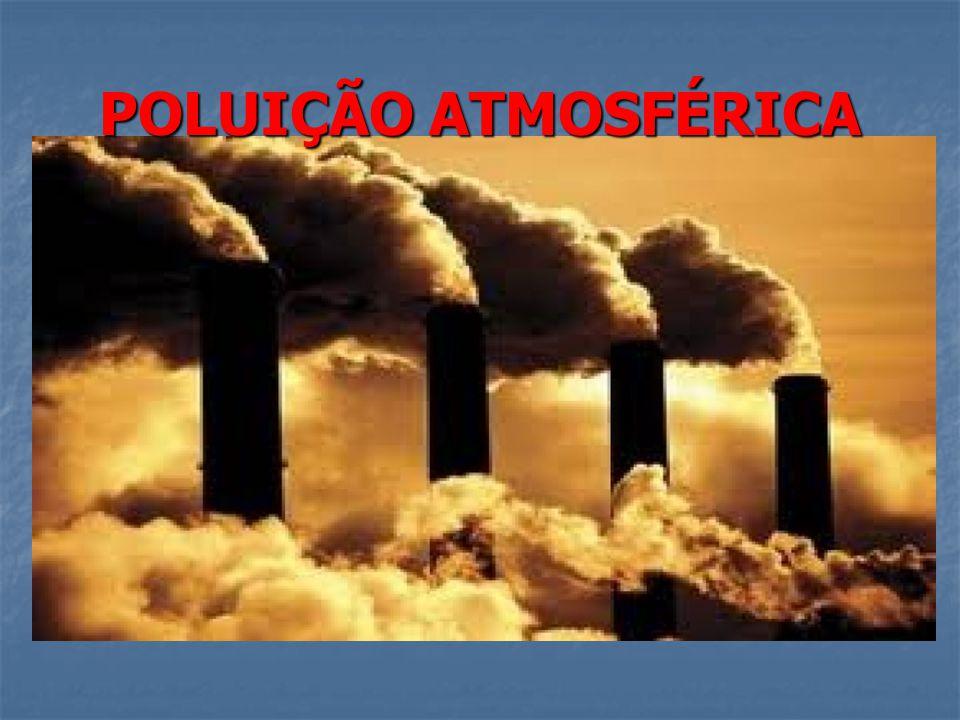 A poluição atmosférica é o efeito provocado na atmosfera por diferentes elementos sólidos, líquidos, ou gasosos, provenientes sobretudo da atividade do Homem.