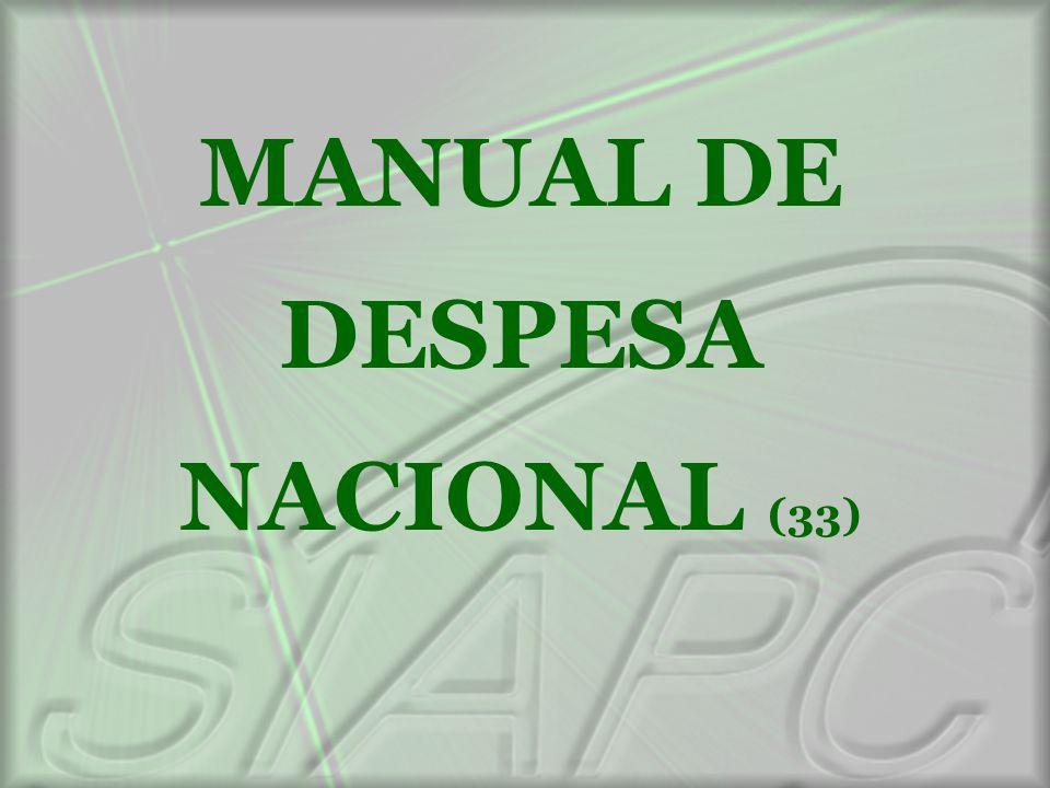 MANUAL DE DESPESA NACIONAL (33)