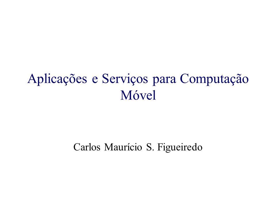 Aplicações e Serviços para Computação Móvel Aplicações Pessoais –Ex: Organização pessoal, acesso à informação, transferência de arquivos, Web, email, etc.